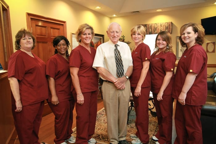 Image: Dr. Wallace Lail with medical staff | Pay Online - Lail Family Dentistry, Duluth GA